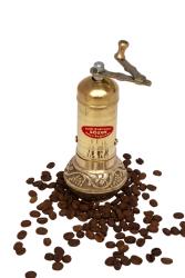 Sozen - SOZEN BRASS COFFEE GRINDER MILL 16 CM / 6.4 IN