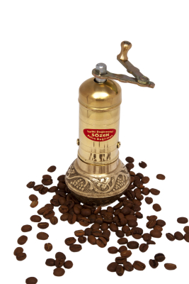 SOZEN BRASS COFFEE GRINDER MILL 16 CM / 6.4 IN