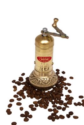 SOZEN BRASS COFFEE GRINDER MILL 16 CM / 6.4 IN
