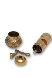 SOZEN BRASS COFFEE GRINDER MILL 16 CM / 6.4 IN - Thumbnail