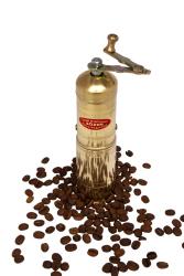 Sozen - SOZEN BRASS COFFEE GRINDER MILL 18 CM / 7 IN