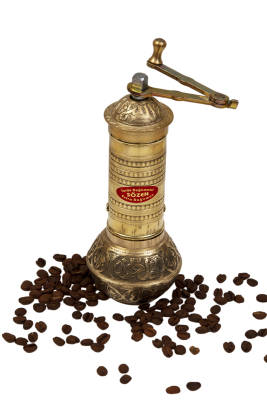 SOZEN BRASS COFFEE GRINDER 19 CM / 8 IN HANDHAMMERED