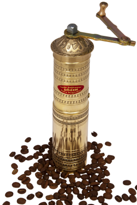 SOZEN BRASS COFFEE GRINDER 23 CM / 9.2 IN HANDHAMMERED