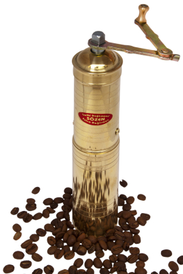 SOZEN BRASS COFFEE GRINDER MILL 23 CM / 9.2 IN