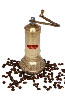 Sozen - SOZEN BRASS COFFEE GRINDER MILL 19 CM / 8 IN