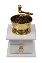 SOZEN WOODEN BOX COFFEE GRINDER MILL - WHITE - Thumbnail