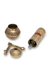 SOZEN BRASS COFFEE GRINDER 19 CM / 8 IN HANDHAMMERED - Thumbnail