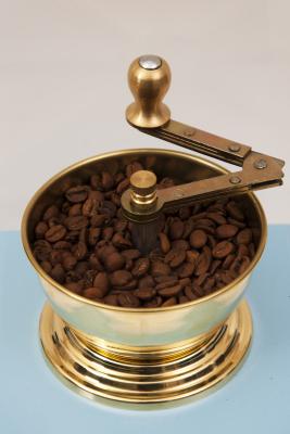 SOZEN WOODEN BOX COFFEE GRINDER MILL - BLUE