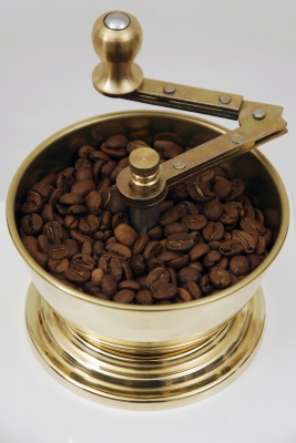 SOZEN WOODEN BOX COFFEE GRINDER MILL - WHITE